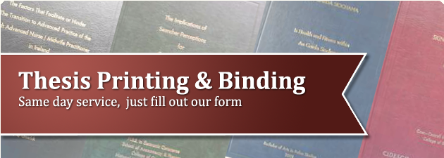 Thesis Binding & Printing