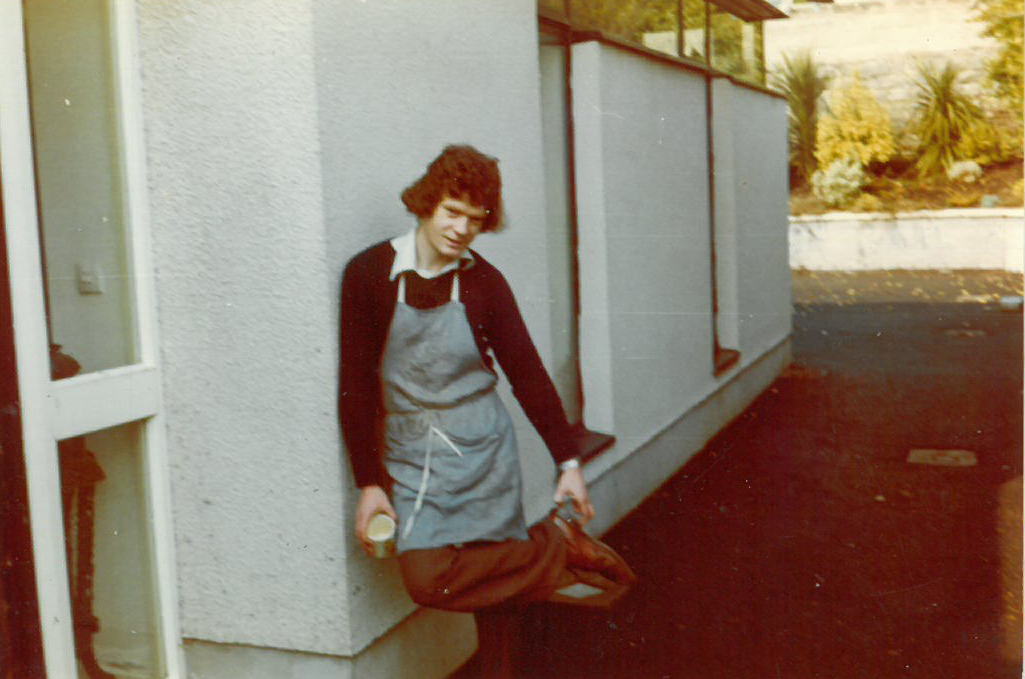 Gerry Kenny outside the Bindery in Salthill 1974